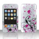 Pink Vines Flowers Hard Snap on Case Cover for Apple iPod Touch 2 Touch 3