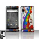 Colorful Hearts Cover Case Snap on Protector for Motorola Droid A855