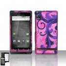 Purple Vines Hard Snap On Cover Case for Motorola Droid A855