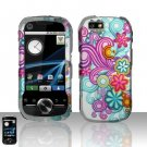Colorful Flowers Hard Snap On Case Cover for Motorola i1
