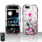 Pink Vines Flowers Hard Snap On Case Cover for Motorola i1