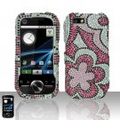 Flowers Design Diamond Hard Snap On Case Cover for Motorola i1