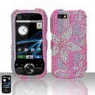 Pink Flower Diamond Hard Snap On Case Cover for Motorola i1