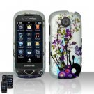 Purple Flowers Hard Snap On Cover Case for Samsung Reality U820