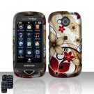 Red Flowers Hard Snap On Cover Case for Samsung Reality U820