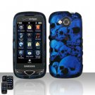 Blue Skulls Hard Snap On Cover Case for Samsung Reality U820