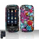 Blue Flowers Hard Snap On Cover Case for Samsung Reality U820