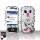 Pink Flowers Hard Snap On Cover Case for Samsung Seek M350