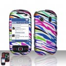 Rainbow Zebra Hard Snap On Cover Case for Samsung Seek M350
