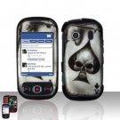 Spade Skull Hard Snap On Cover Case for Samsung Seek M350