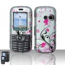 Pink Flowers Hard Snap On Cover Case for LG Rumor 2 LX265