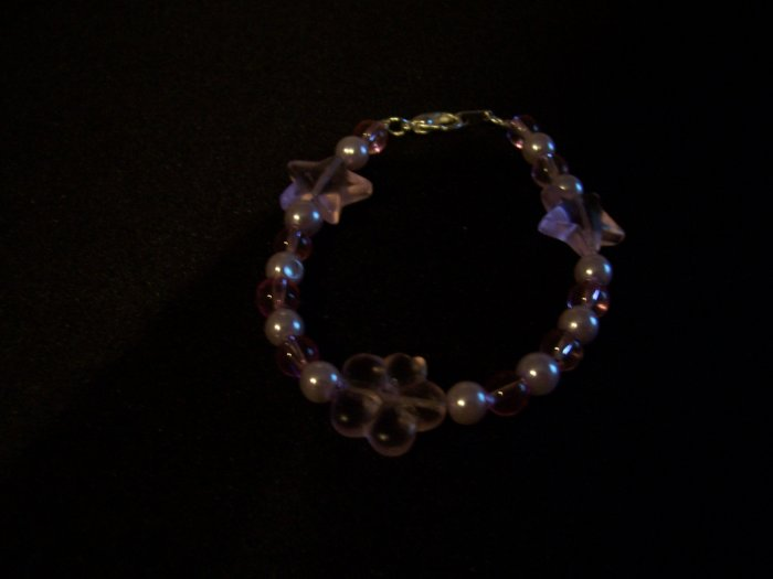 Girls childs Star and Heart Bracelet