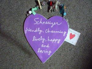 Dept.56 Heart of the breed Schnauzer plaque