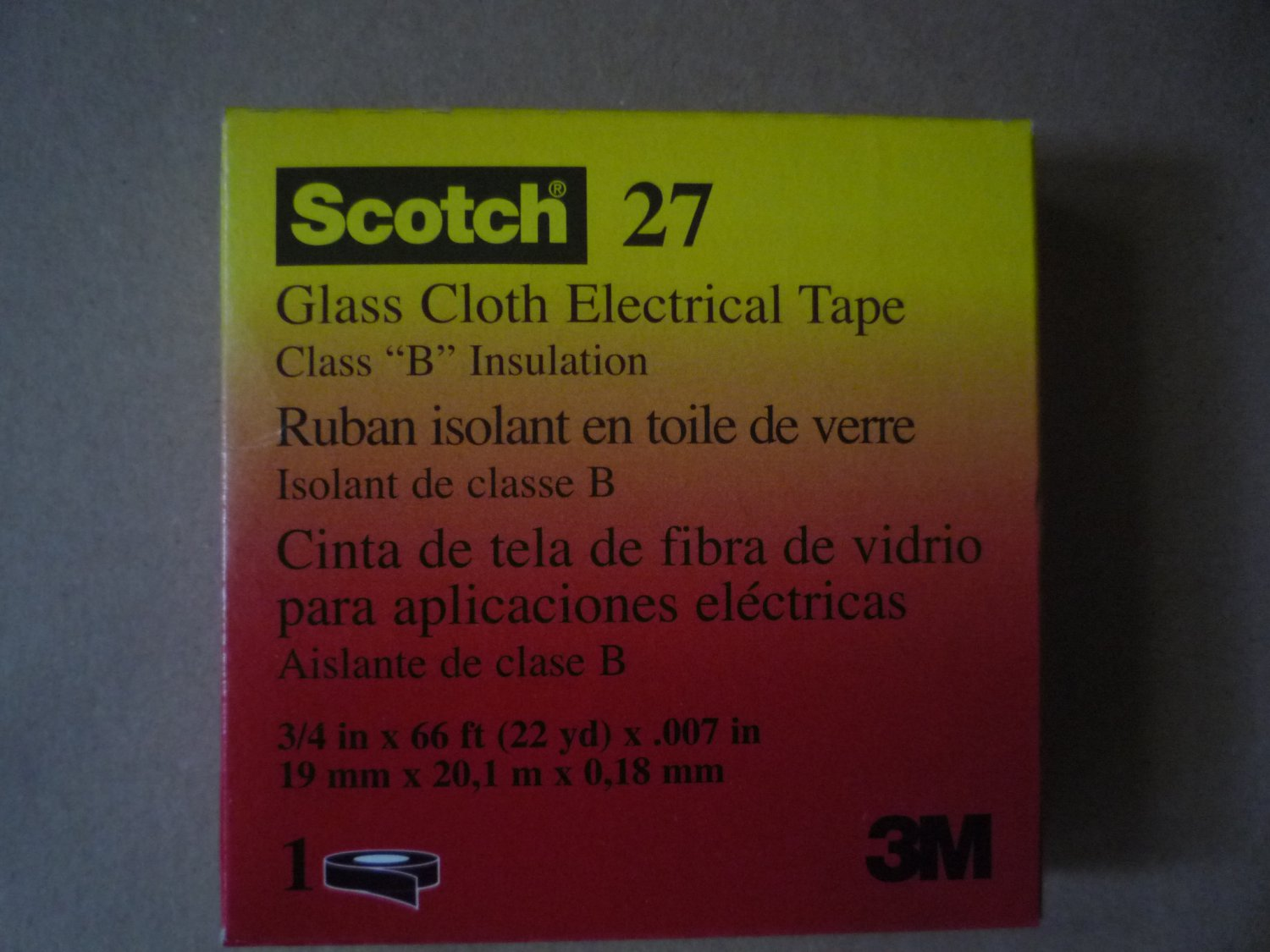 Scotch Tape 27 3/4 inch x 66 ft Electrical tape
