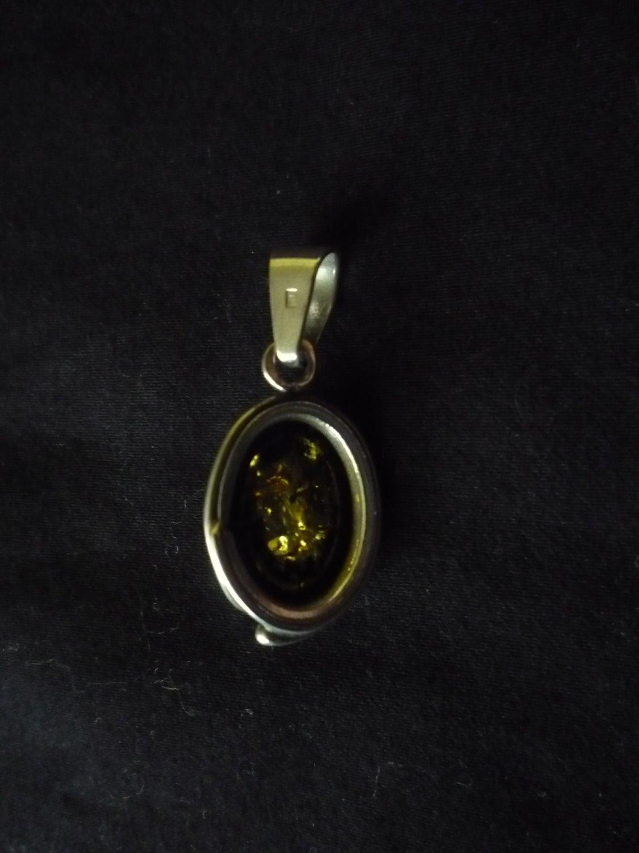 Vintage Sterling 925 Amber pendant