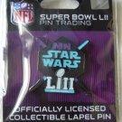 NFL Super Bowl 52 LII 2018 Lapel trading pin star wars