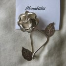 Vintage 980 silver Rose pin brooch Mexico