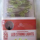 LED string lights battery operated 20 count flowers