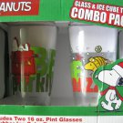 Peanuts glass & ice cube tray combo pack