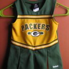 NFL Team apparel Reebok kids Packers cheerleading dress 2T