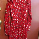 XHILARATION  Christmas dress Long Sleeves Women's red Size small