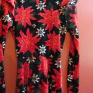 XHILARATION  Christmas poinsettia dress Long Sleeves Women's Size XS