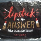 Sephora lipstick is the answer black reuseable shopping bag