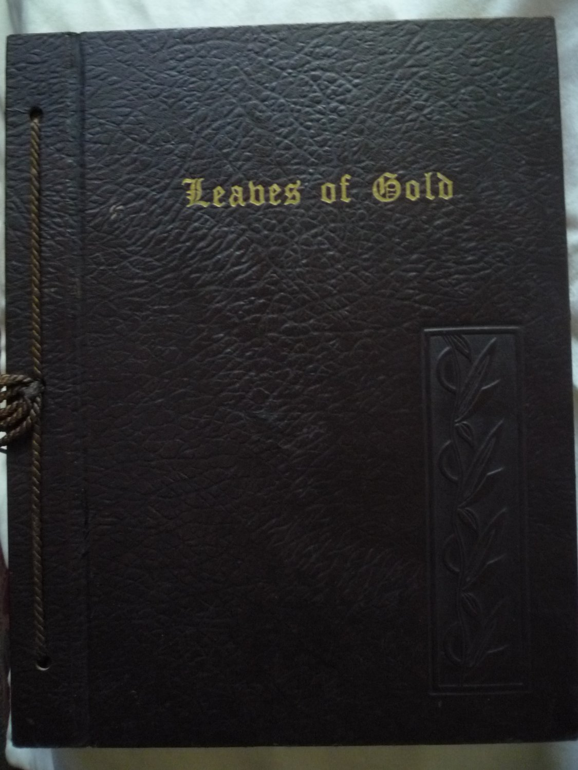 Leaves of Gold hardcover book of inspirations