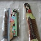 Chinese painted wooden combs (2)