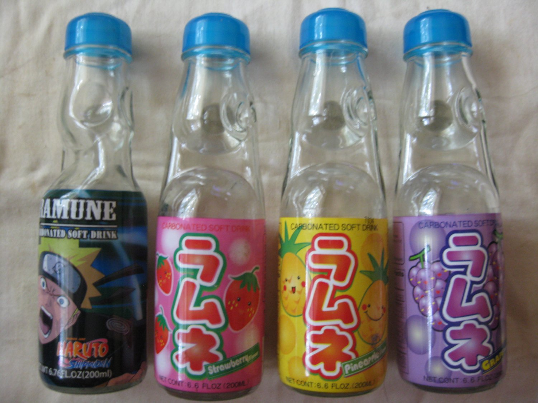 Codd neck soda bottles (4)