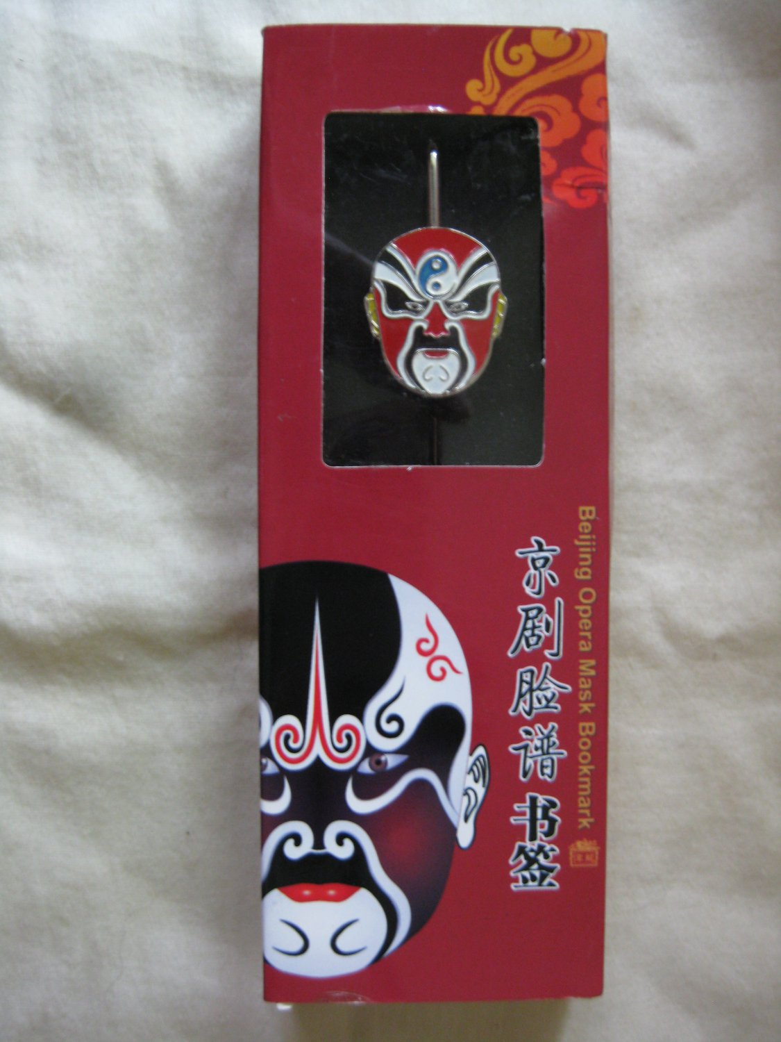 Beijing Opera mask bookmark