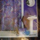 "Man In the Moon Vinyl Shower Curtain 70"" x 72"" Moon & Stars"
