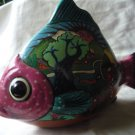 Pedro Marcos pottery fish painted scenery Mexico