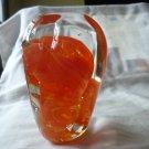Art Glass paperweight orange