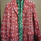 Dec 25th Mens Christmas Jacket and tie Get lit size med.