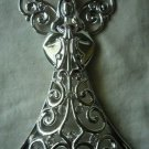 Lenox Sparkle and Scroll  Clear-Crystal Angel Ornament Silverplate