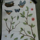 Bird wall stickers set of 3