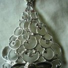 Lenox Sparkle and Scroll  Clear-Crystal Tree Ornament Silverplate