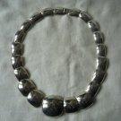 Metal silver tone necklace choker