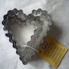 Kaiser Terraced Cookie Cutter  4/5/6 cm, 3 Cookie Cutters