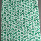 St Paddy Shamrock Poly or Cotton -VINTAGE FABRIC 1.2 YD