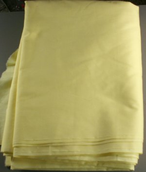 """Yellow Cotton Poly-VINTAGE FABRIC 3.75 Yd 45w"""""""