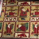 "Magic of Santa Print-VINTAGE FABRIC 2/3 YD 30"" wide"