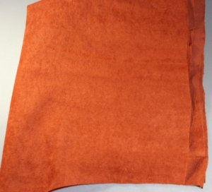 Knit Faux Suede-Rusty Brown-VINTAGE FABRIC Fat Qtr
