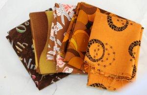 5 Pack Brown Tones FAT QTR Fat Qtr 18x18 FABRIC Fabric Cotton