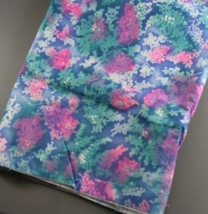 Vibrant Floral Print Cotton Fabric 1yd 60s