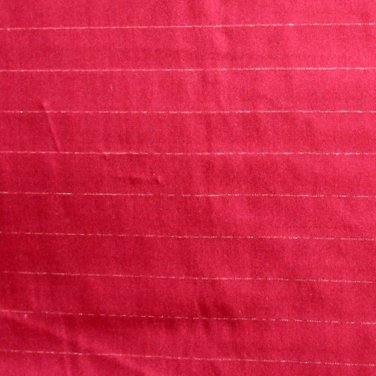 "Vintage Silk Shantung Fabric Burgundy & Silver Stripes 2 .53 Yd 42""W"