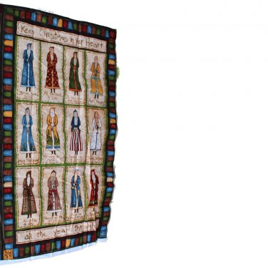"""MM Fab """"Keep Christmas in Your Heart All Year Through"""" Fabric Panel"""