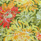 VHY Hawaian Textiles Embossed Mod Floral Fabric 1/2 Yd, 45 Inch W