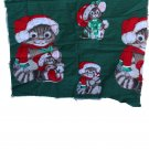 Wamsutta OTC-Hallmark Cards Inc. Christmas Cat & Mouse Cotton VINTAGE FABRIC Panel